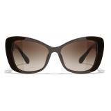 Chanel - Occhiali da Sole a Farfalla - Marrone - Chanel Eyewear