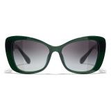 Chanel - Butterfly Sunglasses - Dark Green Gray - Chanel Eyewear