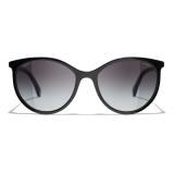 Chanel - Pantos Sunglasses - Black Gray - Chanel Eyewear