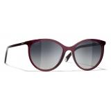 Chanel - Pantos Sunglasses - Red Gray - Chanel Eyewear