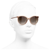 Chanel - Occhiali da Sole Pantos - Marrone - Chanel Eyewear