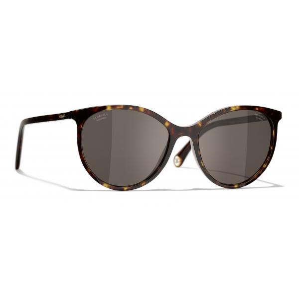 Chanel - Pantos Sunglasses - Dark Tortoise Brown - Chanel Eyewear