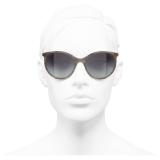 Chanel - Pantos Sunglasses - Gray - Chanel Eyewear
