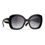 Chanel - Square Sunglasses - Black Gray - Chanel Eyewear