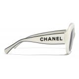 Chanel - Square Sunglasses - White Gray - Chanel Eyewear