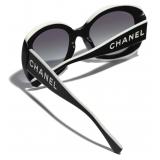 Chanel - Occhiali da Sole Quadrati - Nero Grigio - Chanel Eyewear