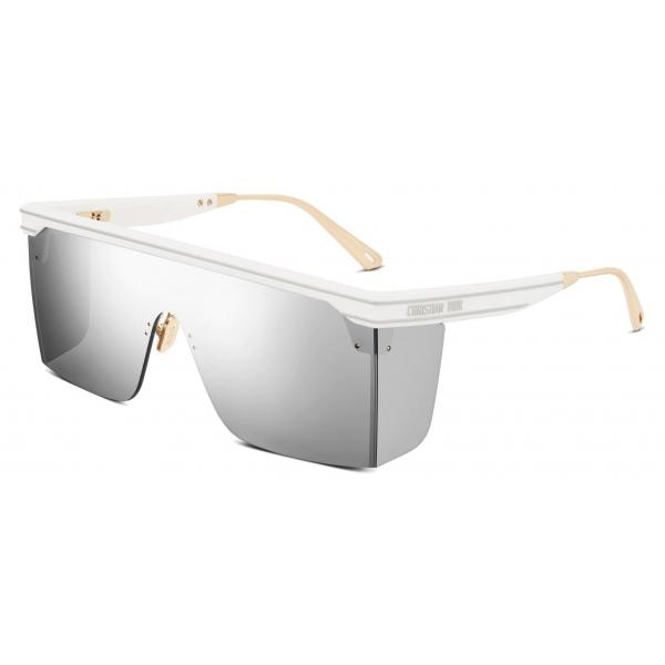 Dior - Occhiali da Sole - DiorClub M1U - Bianco Argento - Dior Eyewear