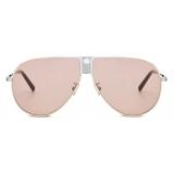 Dior - Sunglasses - DiorIce AU - Silver Coral - Dior Eyewear