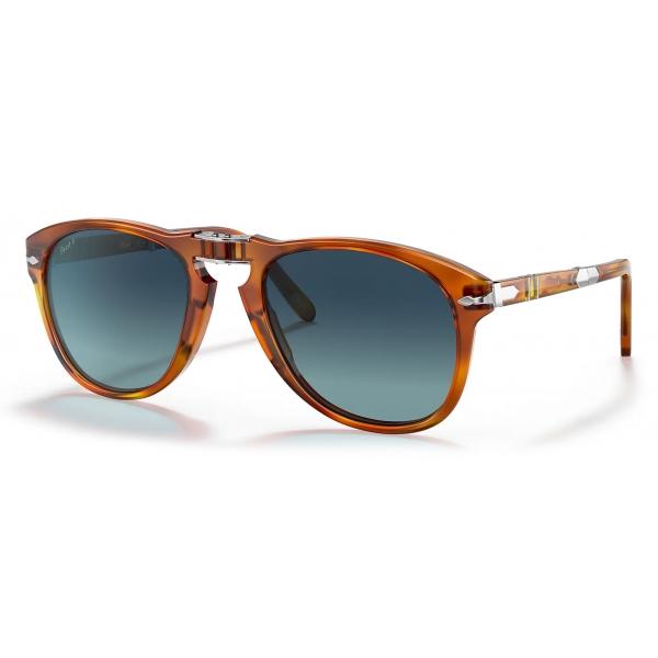 Persol - 714 Steve McQueen - Original - Terra di Siena / Polarized Light Blue - PO0714SM 96/S3 54-21 - Sunglasses - Eyewear