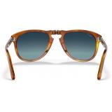 Persol - 714 Steve McQueen - Original - Terra di Siena / Azzurre Polarizzate - PO0714SM 96/S3 54-21 - Occhiali da Sole - Eyewear