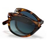 Persol - 714 Steve McQueen - Original - Caffè / Polarized Light Blue Gradient - PO0714SM 108/S3 54-21 - Sunglasses - Eyewear