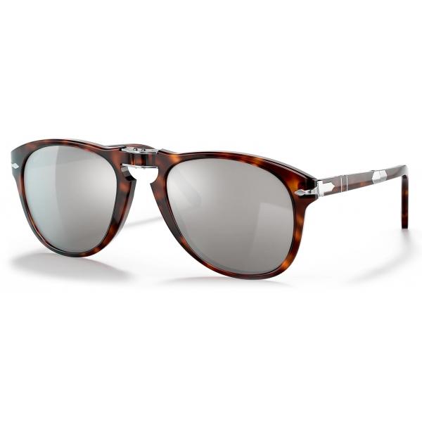Persol - 714 Steve McQueen - Original - Havana / Placcata in Platino - PO0714SM 24 AP 54-21 - Occhiali da Sole - Persol Eyewear