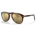 Persol - 714 Steve McQueen - Original - Havana / 24k Gold Plated - PO0714SM 24/AM 54-21 - Sunglasses - Persol Eyewear
