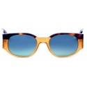 David Marc -  JACQUELINE 238 – M76 - Gold Havana - Sunglasses - Handmade in Italy - David Marc Eyewear