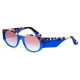 David Marc - JACQUELINE A25-BL - Blue Havana - Occhiali da Sole - Handmade in Italy - David Marc Eyewear