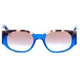 David Marc - JACQUELINE A25-BL - Blue Havana - Sunglasses - Handmade in Italy - David Marc Eyewear