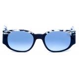 David Marc - JACQUELINE CB-01- Black White - Sunglasses - Handmade in Italy - David Marc Eyewear
