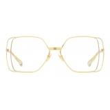 Gucci - Rectangular Sunglasses - Gold Yellow - Gucci Eyewear