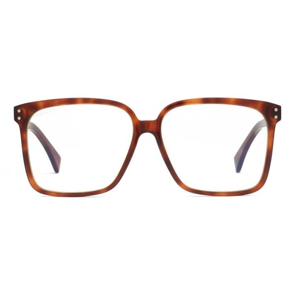 Gucci - Occhiali da Sole Rettangolari - Marrone Giallo - Gucci Eyewear