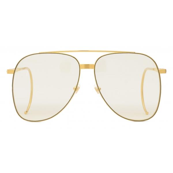 Gucci - Occhiali da Sole Aviator - Oro Giallo - Gucci Eyewear