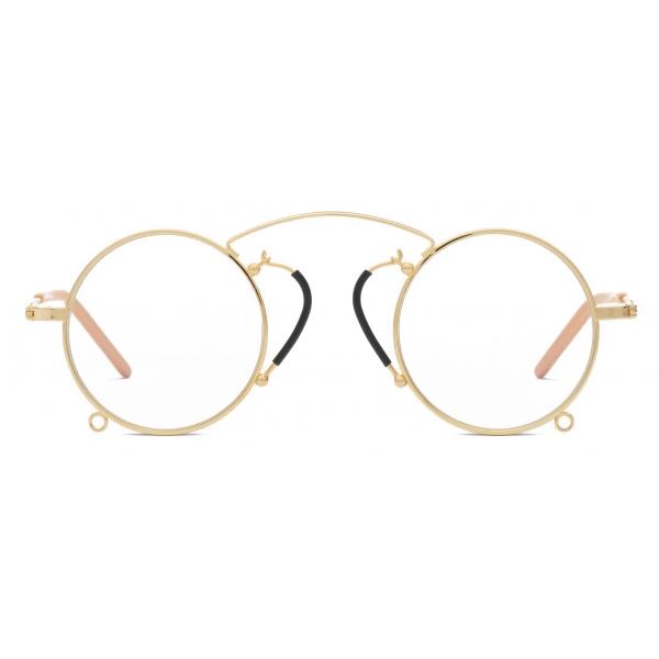 Gucci - Occhiali Pince-Nez con Montatura Rotonda - Oro Giallo - Gucci Eyewear