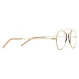 Gucci - Pince-Nez Round-Frame Glasses - Gold Yellow - Gucci Eyewear