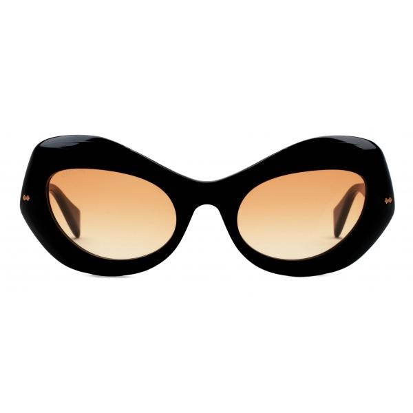 Gucci - Occhiali da Sole Cat-Eye - Nero Arancione - Gucci Eyewear