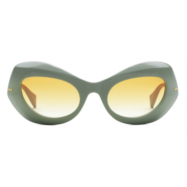 Gucci - Occhiali da Sole Cat-Eye - Verde Salvia Giallo - Gucci Eyewear
