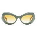 Gucci - Cat-Eye Sunglasses - Sage Green Yellow - Gucci Eyewear