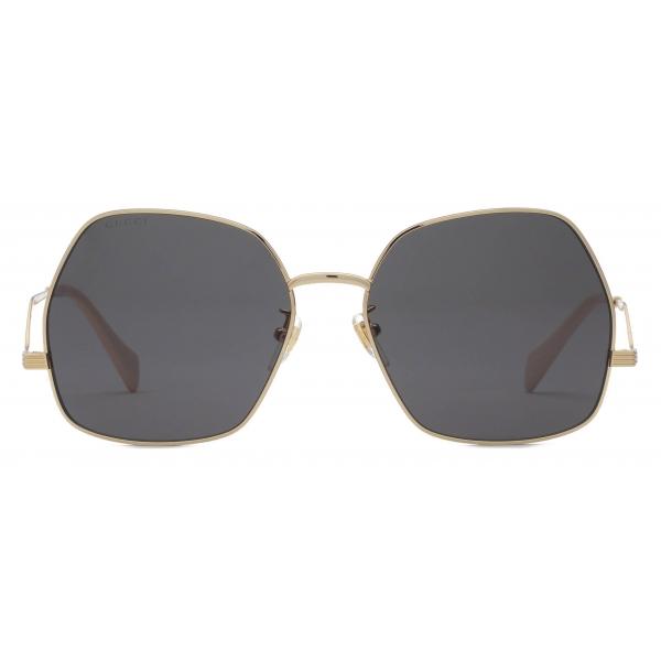 Gucci - Geometrical Sunglasses - Gold Gray - Gucci Eyewear