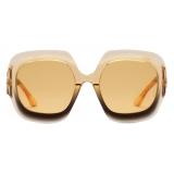 Gucci - Rectangular Sunglasses - Black Yellow - Gucci Eyewear