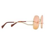 Gucci - Geometrical Sunglasses - Gold Pink Orange - Gucci Eyewear