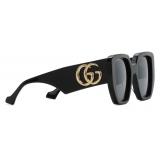 Gucci - Rectangular Sunglasses - Black Gray - Gucci Eyewear