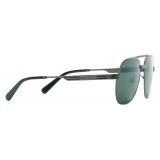 Gucci - Navigator Sunglasses - Ruthenium Green - Gucci Eyewear