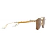 Gucci - Navigator Sunglasses - Silver Gray - Gucci Eyewear