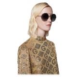 Gucci - Round Sunglasses - Gold Gray - Gucci Eyewear