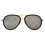 Gucci - Aviator Sunglasses - Yellow Gold Pink - Gucci Eyewear