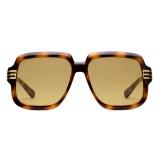 Gucci - Square Sunglasses - Tortoiseshell Yellow - Gucci Eyewear