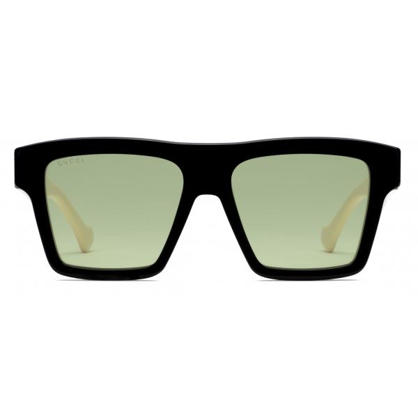 Gucci - Square Sunglasses - Black Green - Gucci Eyewear