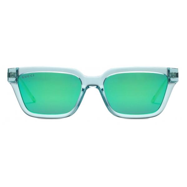 Gucci - Rectangular Sunglasses - Light Blue Green - Gucci Eyewear