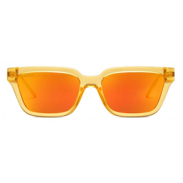 Gucci - Rectangular Sunglasses - Orange - Gucci Eyewear