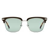 Gucci - Square Sunglasses - Silver Light Blue - Gucci Eyewear