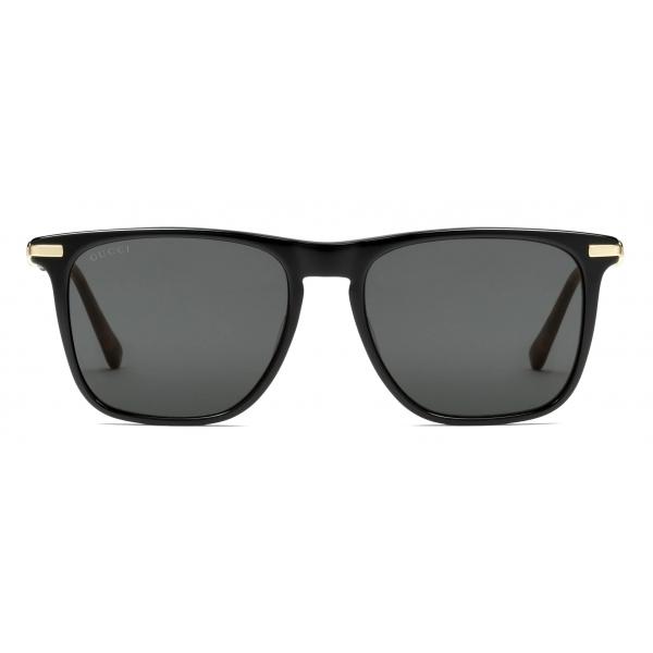 Gucci - Square Sunglasses - Black Gray - Gucci Eyewear