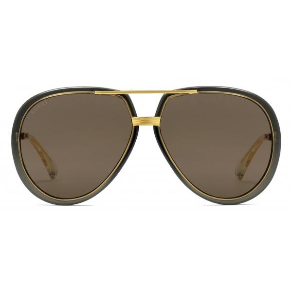 Gucci - Aviator Sunglasses - Gold Brown - Gucci Eyewear