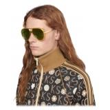 Gucci - Aviator Sunglasses - Yellow Green - Gucci Eyewear