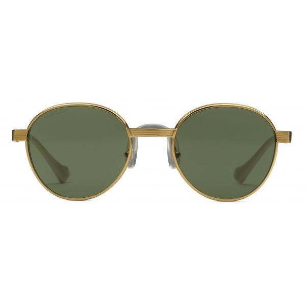 Gucci - Round Sunglasses - Gold Green - Gucci Eyewear