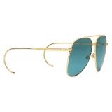 Gucci - Aviator Sunglasses - Gold Blue - Gucci Eyewear