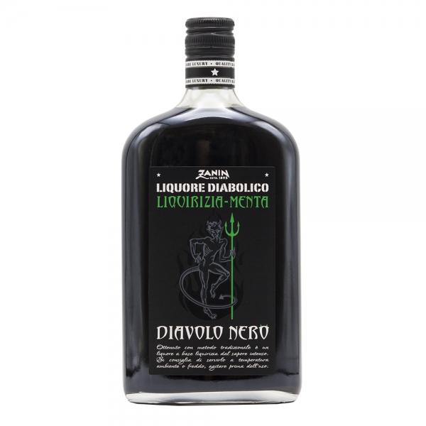 Zanin 1895 - Diavolo Nero Menta Liqueur - Black Devil Mint - Made in Italy - 25 % vol. - Spirit of Excellence
