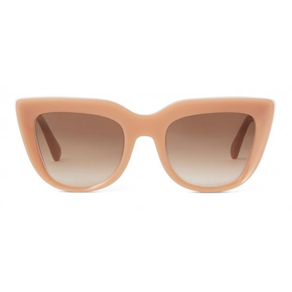 Stella McCartney - Cat-Eye Sunglasses - Shiny Milky Nude - Sunglasses - Stella McCartney Eyewear