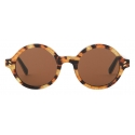 Stella McCartney - Round Sunglasses - Leopard - Sunglasses - Stella McCartney Eyewear